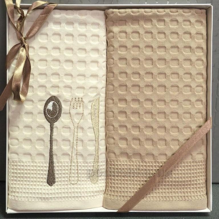 Набор полотенец ISSIMO кухня Ложка, вилка, нож 50х70 см - 2 шт Issimo Home
