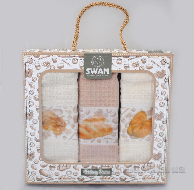 Набор вафельных полотенец в коробке Хлеб