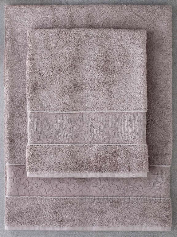 Набор полотенец Pavia Solid dark beige тёмно-бежевый - 2 шт