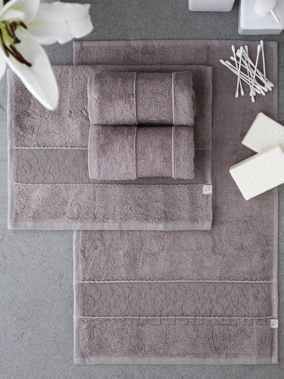 Набор полотенец Pavia Solid dark beige тёмно-бежевый - 4 шт