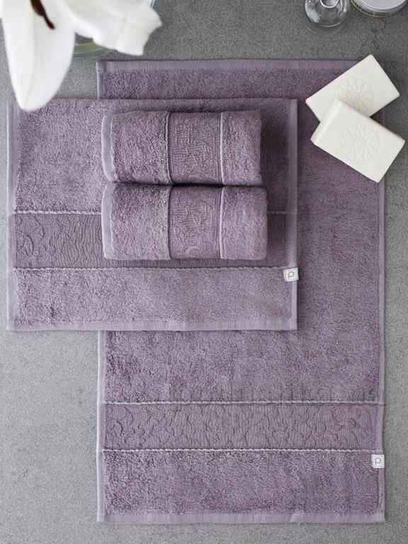 Набор полотенец Pavia Solid Dark Lila тёмно-фиолетовый - 4 шт