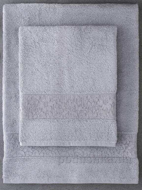 Набор полотенец Pavia Solid Gray серый - 2 шт
