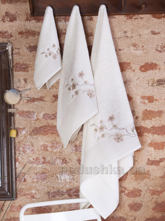 Набор полотенец Pavia Vina beige бежевый - 3 шт