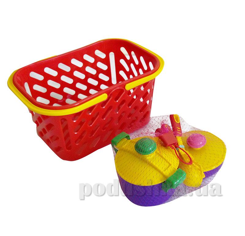 Набор посудки игрушечный в корзинке Kinderway KW-04-435