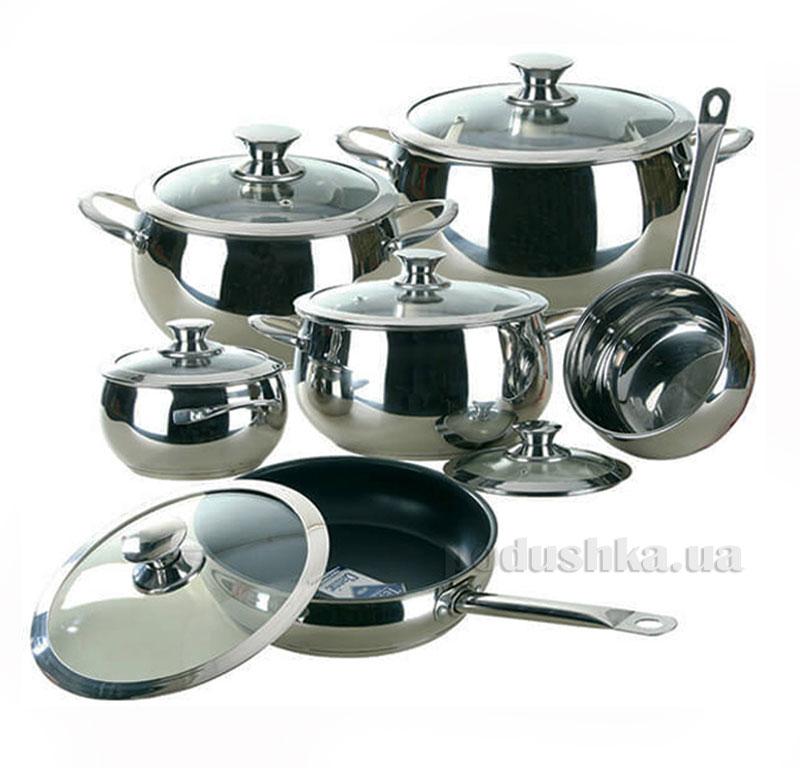 Набор посуды 12 предметов Серебро Maestro MR-3022
