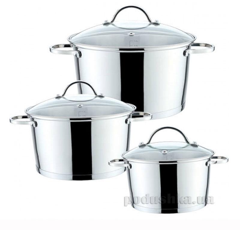 Набор посуды 6 предметов Серебро Maestro MR-3508-6М