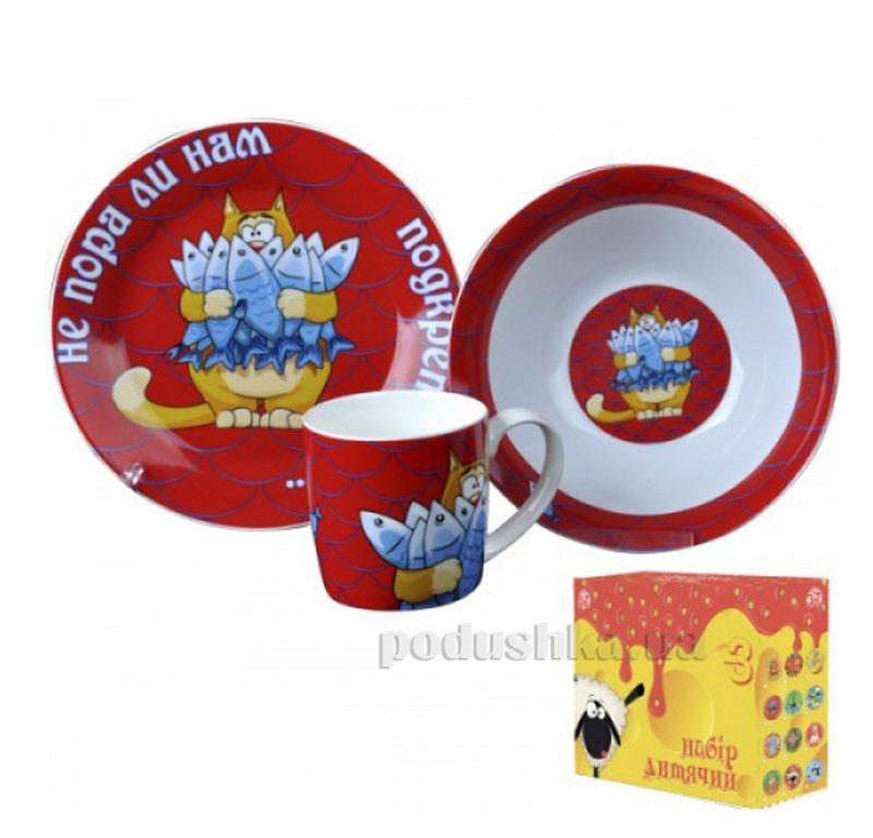 Набор посуды для детей Кот с рыбой ST 5132-02