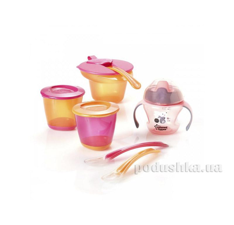 Набор посуды для первого прикорма Tommee Tippee Розовый 44673291