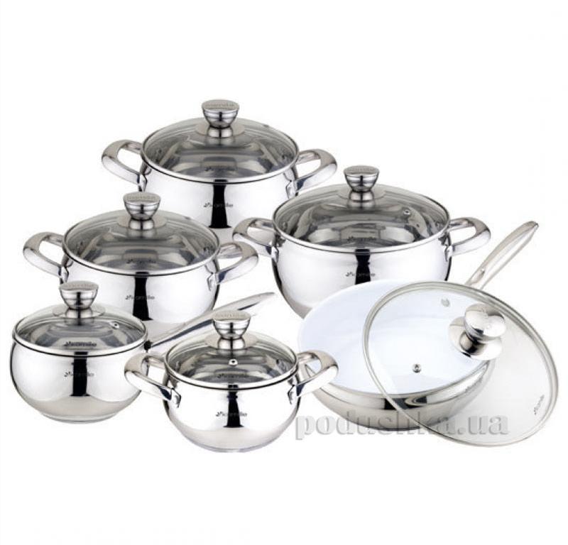 Набор посуды из нержавеющей стали Kamille AM-4018 S