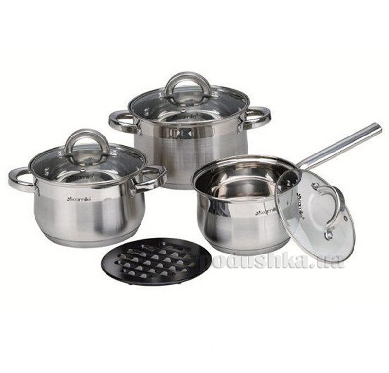 Набор посуды с подставкой Kamille AM-4151