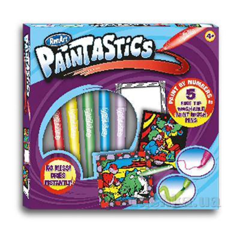 Набор раскраски и фломастеры Веселые приключения серии Paintastics RenArt