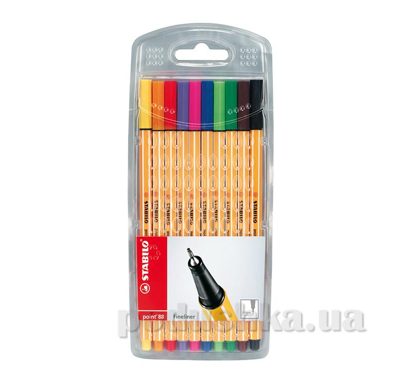 Набор ручек капиллярных в чехле Stabilo 8810-1 point 88 микс цветов