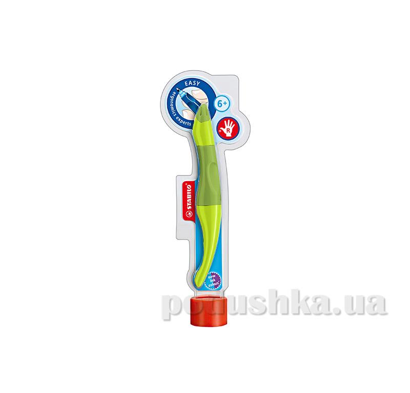 Набор ручка для правши + стержни Stabilo Easy original зеленый