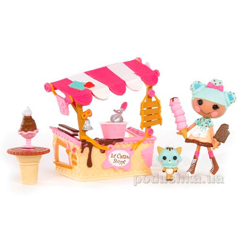Набор с куклой Вафелька и Киоск с Мороженным Minilalaloopsy 536567