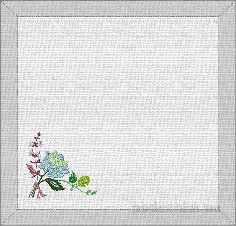 Набор салфеток Гортензия Гармония белый
