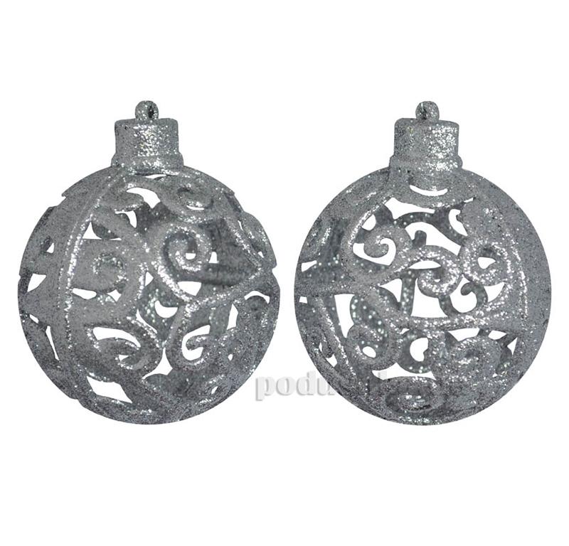 Набор шаров Ажур серебро Новогодько 972055