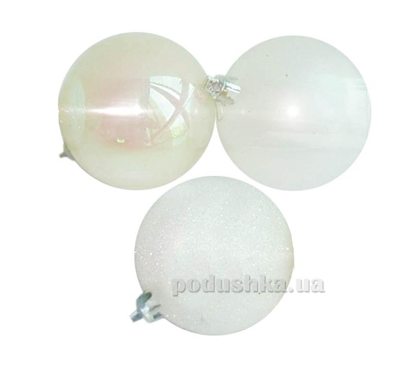 Набор шаров белого цвета 12 шт. Новогодько 971645