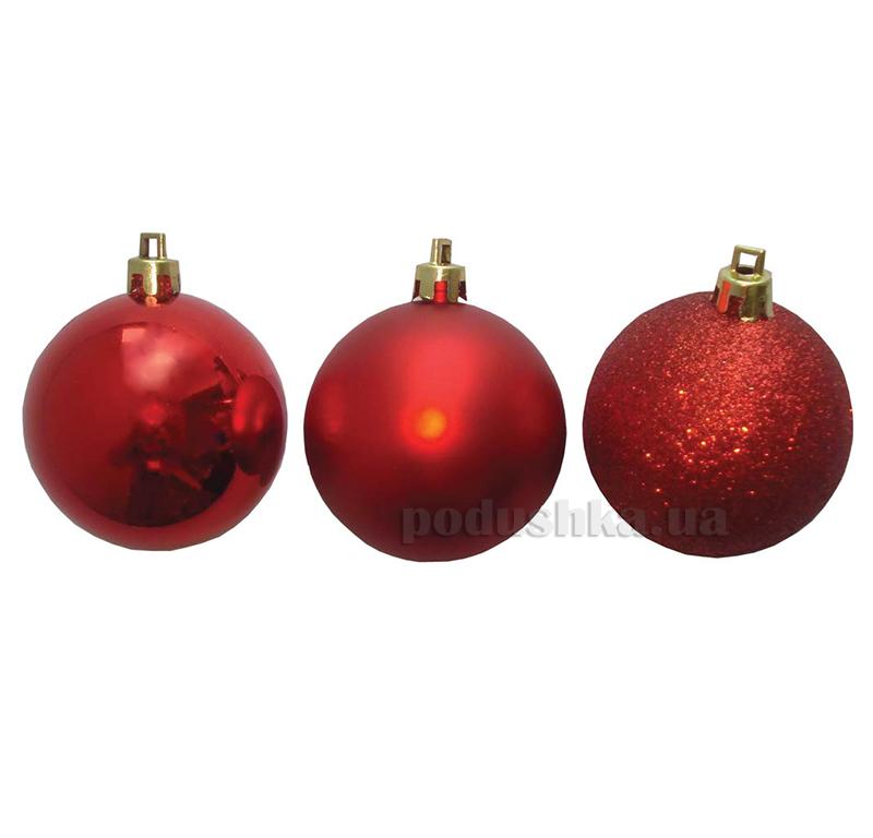 Набор шаров красного цвета 3 шт. Новогодько 971631