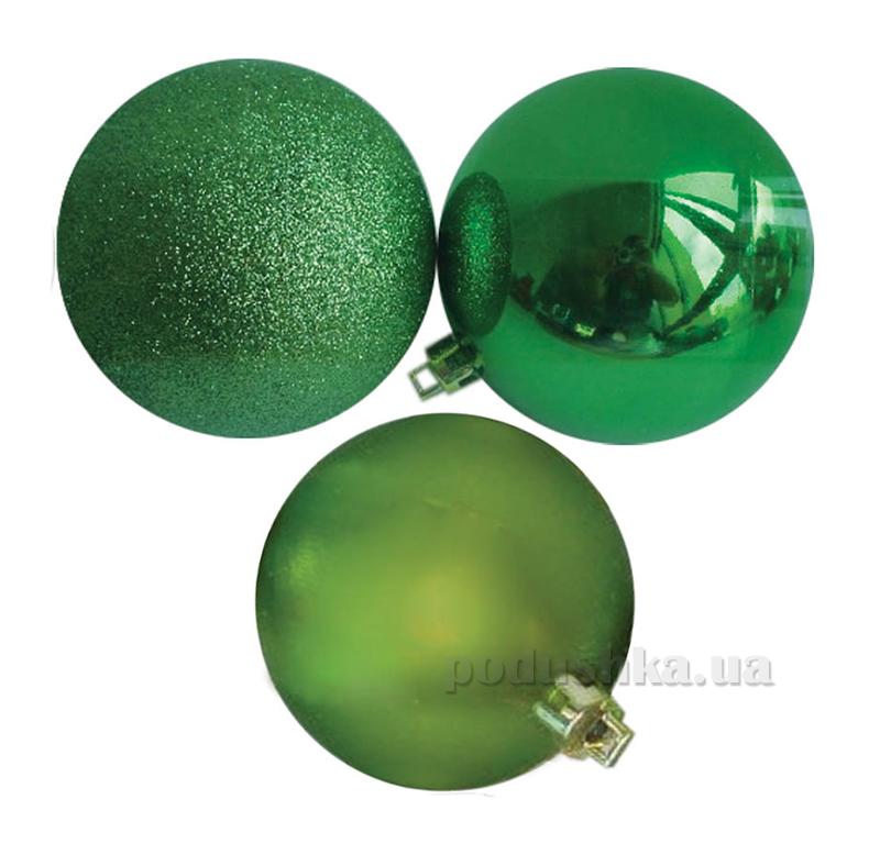 Набор шаров салатового цвета 12 шт. Новогодько 971624