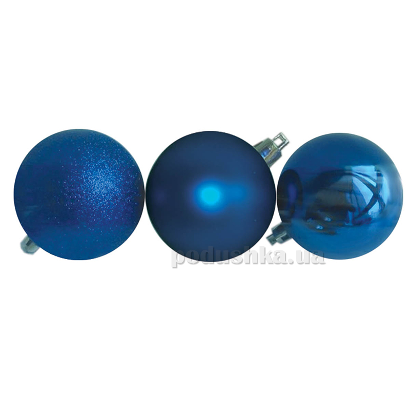 Набор шаров синего цвета 3 шт. Новогодько 971643