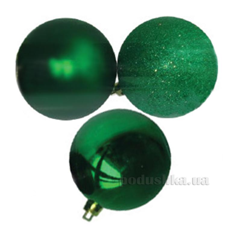 Набор шаров зеленого цвета 12 шт. Новогодько 971619