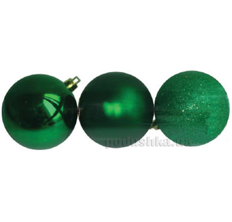 Набор шаров зеленого цвета 3 шт. Новогодько 971621
