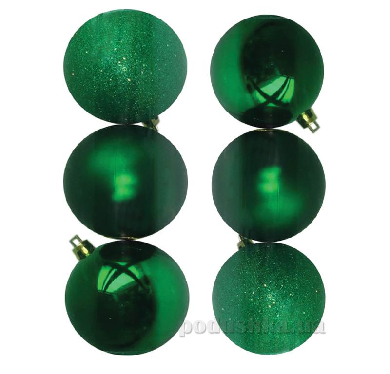 Набор шаров зеленого цвета 6 шт. Новогодько 971636