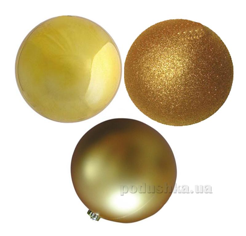 Набор шаров золотого цвета 12 шт. Новогодько 972131