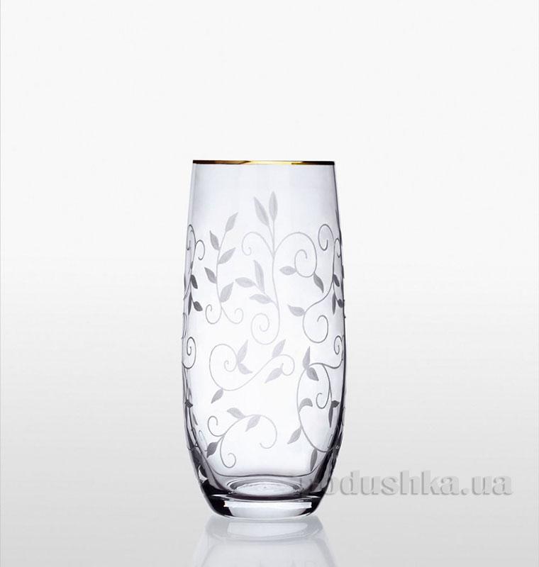 Набор стаканов для напитков Club Bohemia Sklo золото 09-12-350-6-019