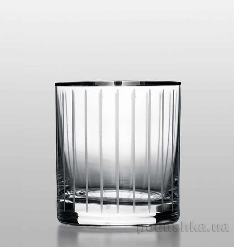 Набор стаканов для виски Barline Line Bohemia Sklo платина 18-08-280-6-049