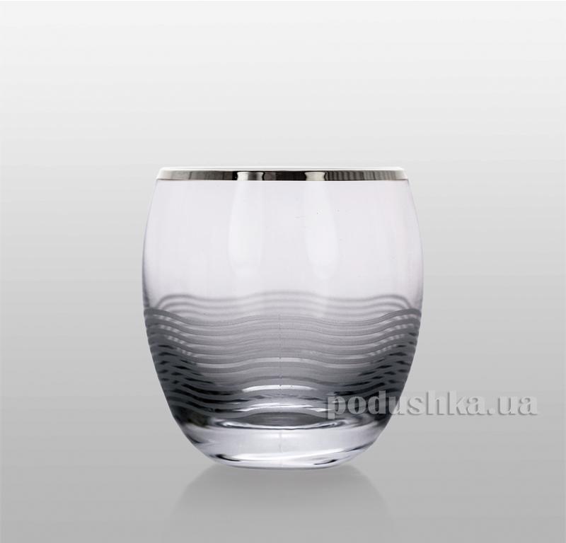 Набор стаканов для виски Onda платина Bohemia Sklo 33-08-300-6-036