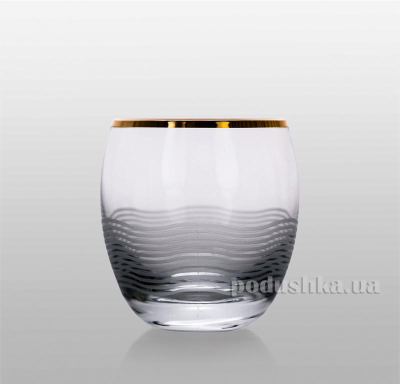 Набор стаканов для виски Onda золото Bohemia Sklo 33-08-300-6-035