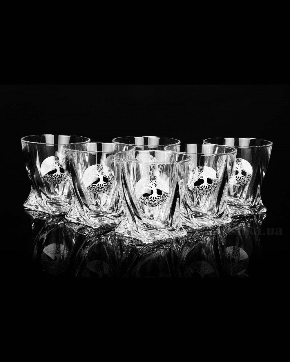 Набор стаканов для виски Quadro Bohemia Sklo Edem платина 13-12-340-6-064