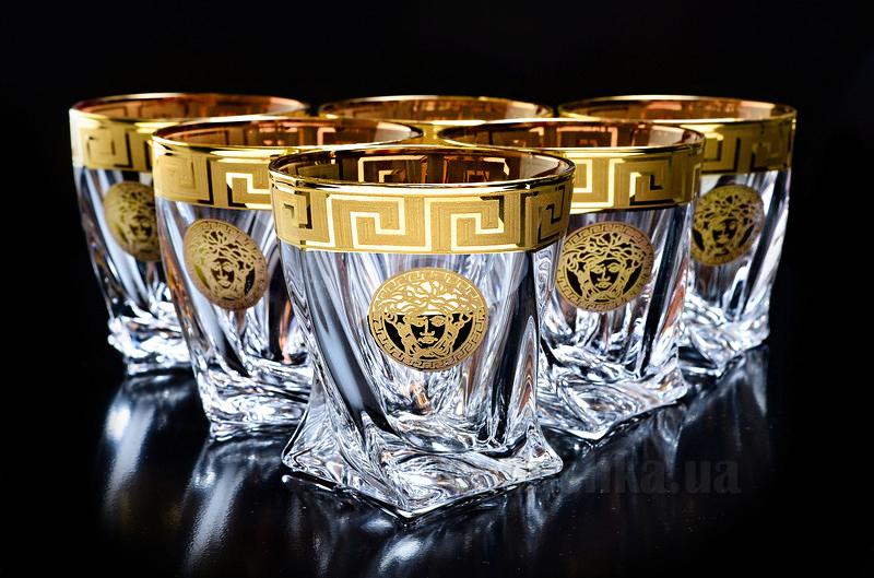 Набор стаканов для виски Quadro Bohemia Sklo s.r.o 13-12-340-6-005