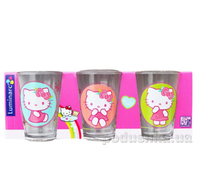 Набор стаканов Luminarc Hello Kitty Nordic Flower 3х160мл низкие H5531   Luminarc