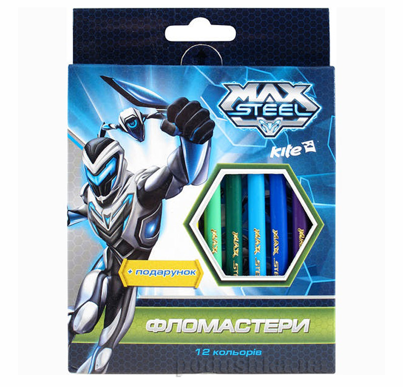 Набор цветных фломастеров Max Steel MX14-046K