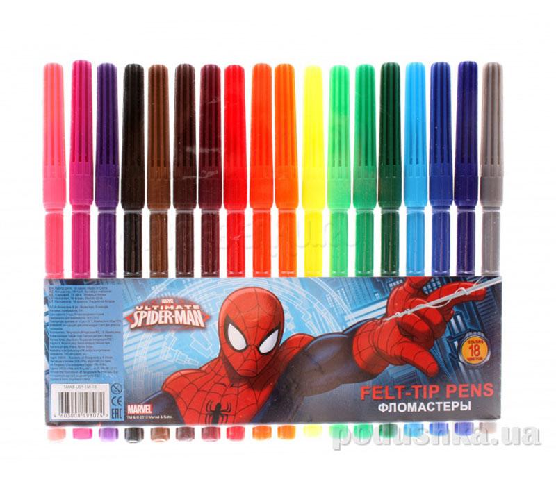Набор цветных фломастеров Spider Man SMAB-US1-1M-18