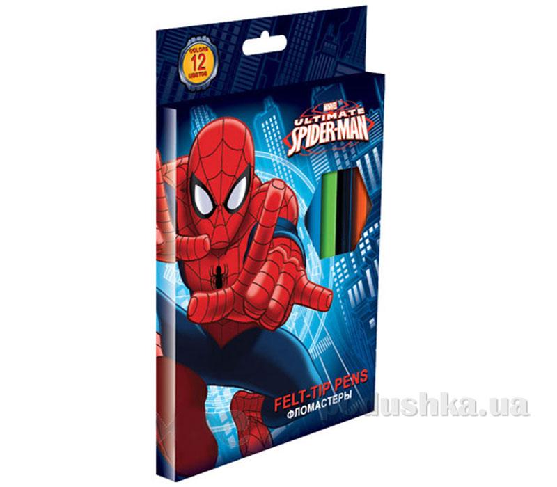 Набор цветных фломастеров Spider Man SMAB-US1-2MB-12