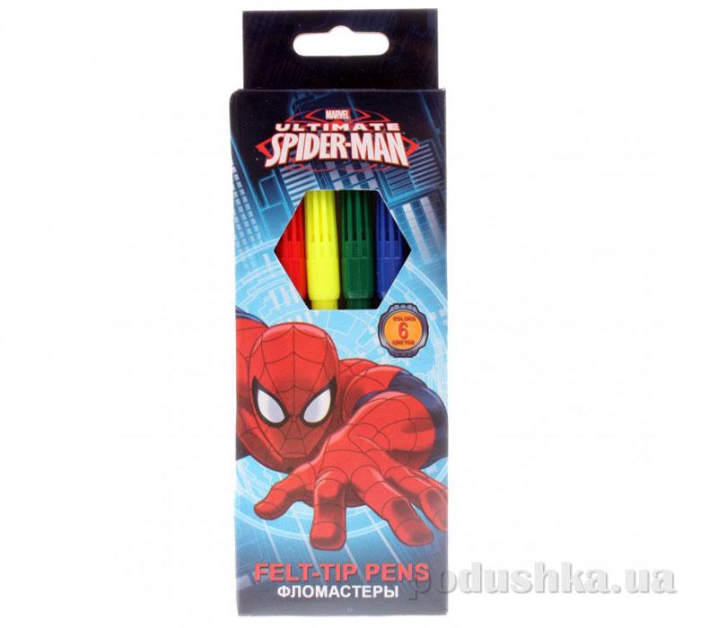 Набор цветных фломастеров Spider Man SMAB-US1-2MB-6