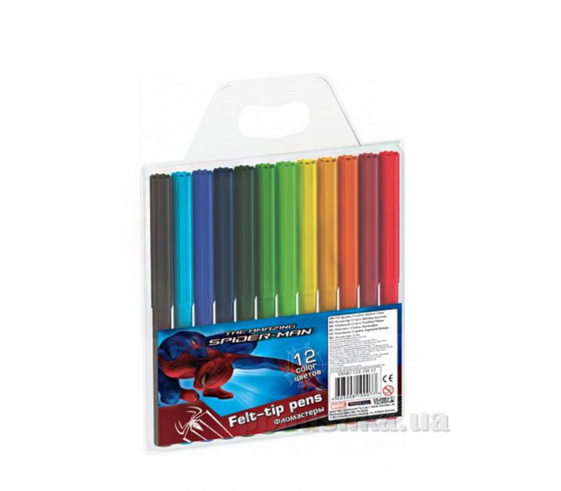 Набор цветных фломастеров Spider-man SM4U-12S-1M-12