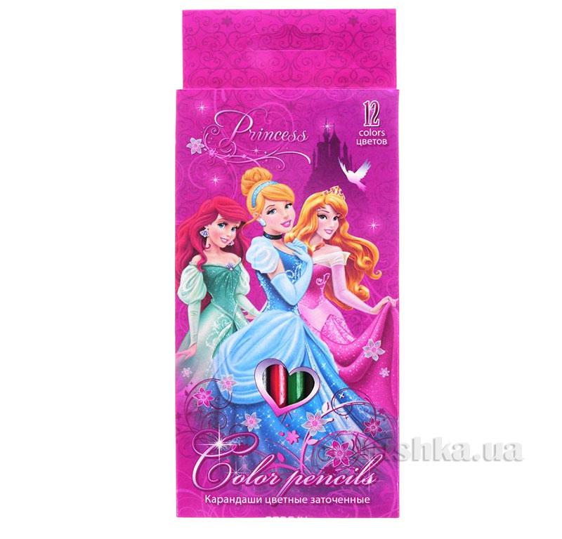 Набор цветных карандашей 12 шт Princesses PRBB-US1-1P-12