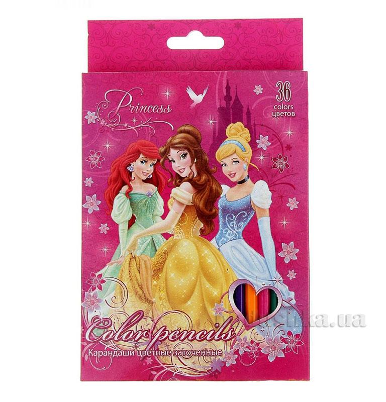 Набор цветных карандашей 36 шт Princesses PRBB-US1-1P-36
