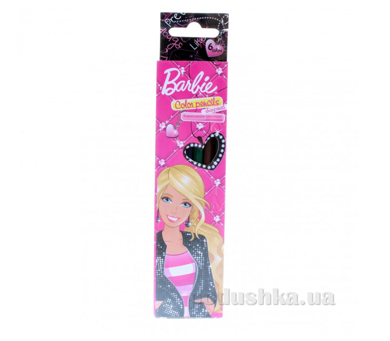 Набор цветных карандашей Barbie BRAB-US1-1P-6