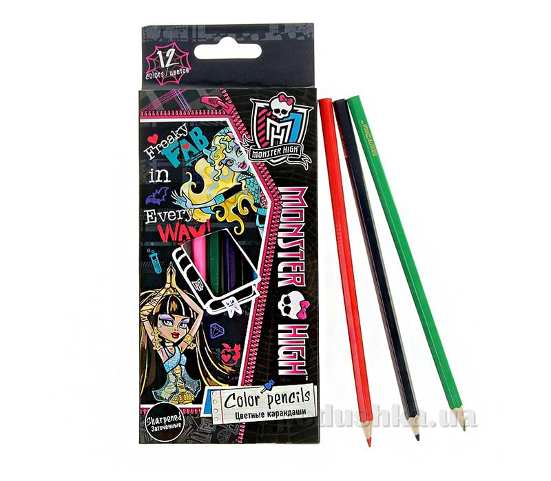 Набор цветных карандашей Monster High MHBB-US1-1P-12