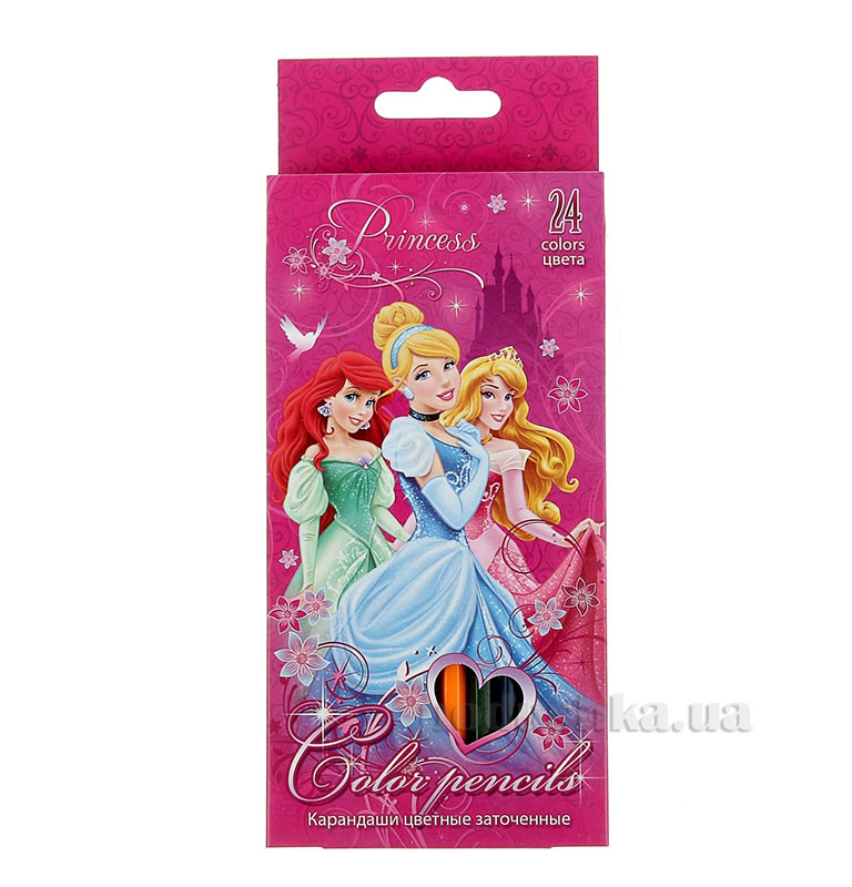 Набор цветных карандашей 24 шт Princesses PRBB-US1-1P-24