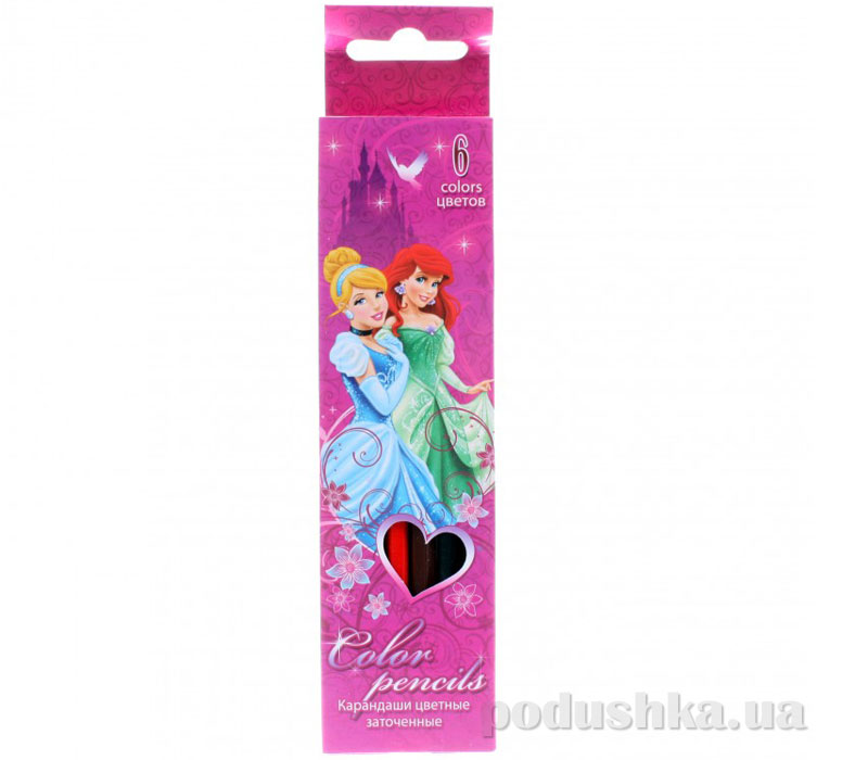 Набор цветных карандашей Princess PRAB-US1-1P-6