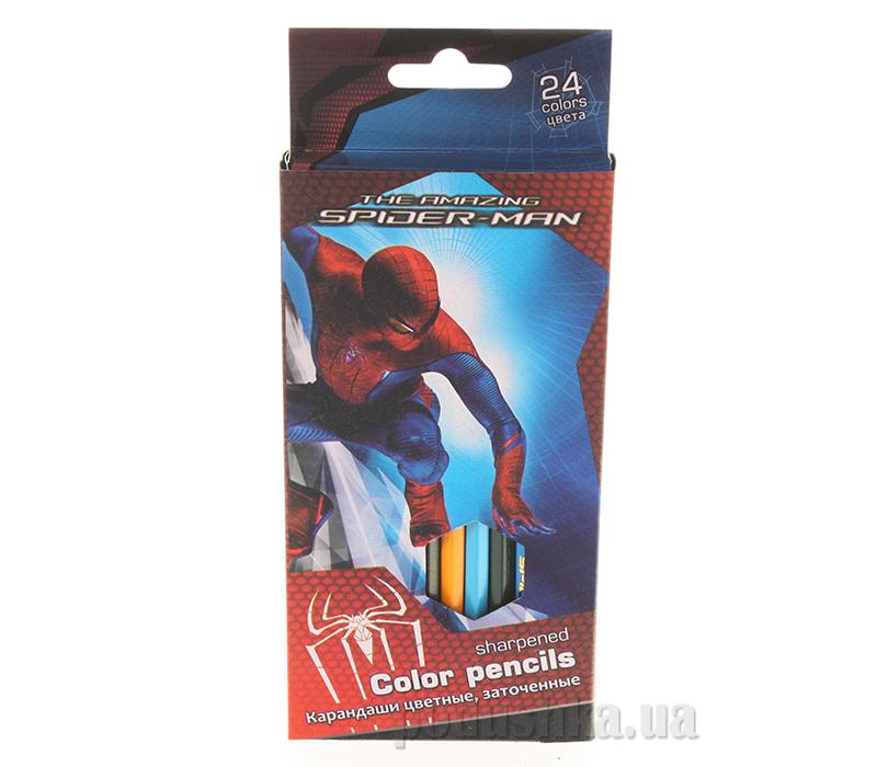 Набор цветных карандашей Spider-man SM4U-12S-1P-24