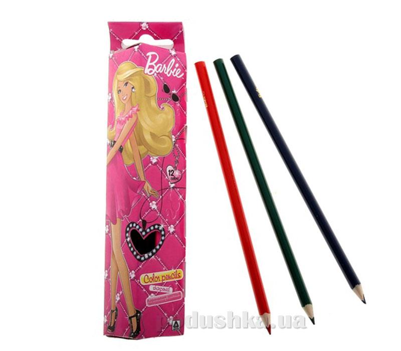 Набор цветных карандашей (треугольные) Barbie BRAB-US1-3P-12