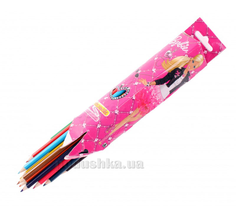 Набор цветных карандашей (треугольные) Barbie BRAB-US1-3P-18