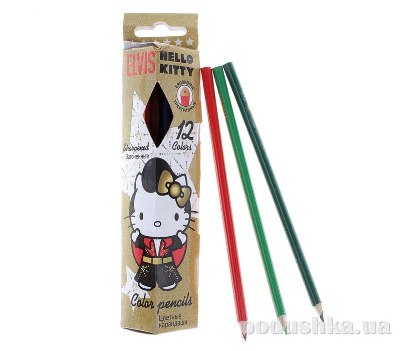 Набор цветных карандашей (треугольные) Hello Kitty